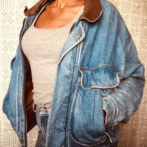 Levi Denim Western-wear Bomber Jacket 💣